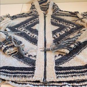 Free People Aztec ZIP Up Sweater